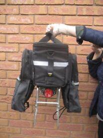 Bicycle Pedestal Black Saddle Bag