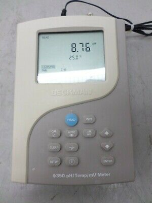 Beckman 350 Ph Temp Mv Meter With Power Adapter