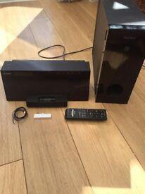 Sony Air Sw10 DAB ipod docking station with wireless sub woofer