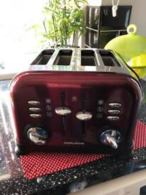 Morphy Richards shiny red double toaster
