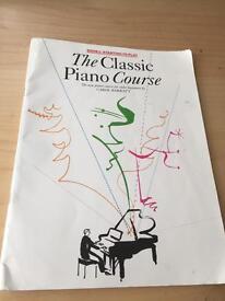 Classic piano course book