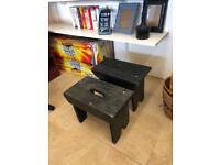 Wooden footstool