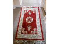 Lovely Red & Cream 100% Wool Chinese Rug
