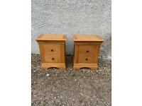 Pair of Gillies solid oak bedside chests * free furniture delivery *