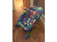Baby rocker and chair (vibrating)