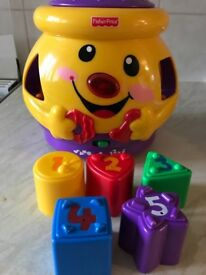 Fisher price laugh and learn cookie jar shape sorter