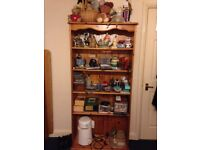 solid pine bookcase in great condition