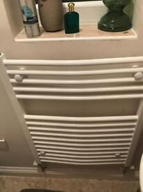 2 X White Towel Warmers