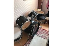 5-Piece Drum Kit & extras - Performance Percussion - Barely used, excellent condition, Kirkcaldy