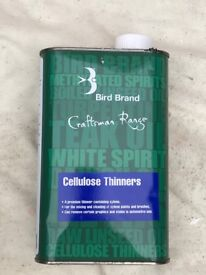 Bird Brand Cellulose Thinners 1 Litre For Cleaning of Xylene Paints & Brushes