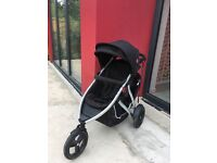 Double Pushchair /Buggy Phil & Teds with Peanut Newborn Basin