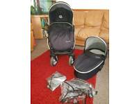 Oyster Max pushchair and carrycot