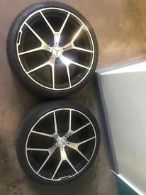 "2 x 20"" Mercedes twist style alloys with brand new 275/30/20 tyres"