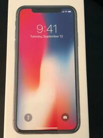 APPLE IPHONE X — SPACE GREY — 256GB — BRAND NEW & SEALED