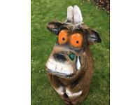 Gruffalo wooden carving