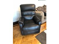 Rising Recliner Chair- Brown Faux Leather