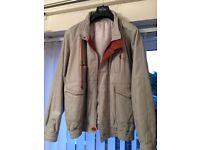 Men's grey leather jacket