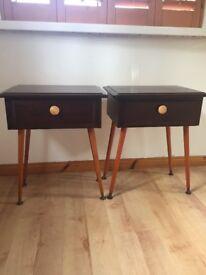 Retro vintage bedside cabinets