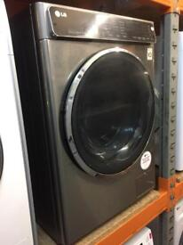 LG 9KG 1400 SPIN WASHING MACHINE STAINLESS STEEL LOOK RECONDITIONED