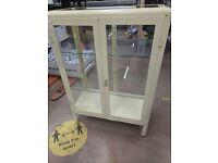 FABRIKÖR Glass-door cabinet, light yellow81x113 cm, IKEA Exeter AS-IS, Was £129 #BargainCorner