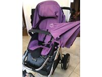 icandy apple travel system with purple flavour pack