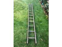 Long Vintage Wooden Ladder