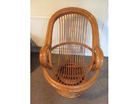 Cane swivel & rocking chair