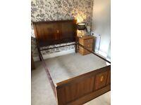 Mahogany double bed frame