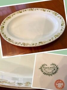 "Early 1900's Antique18""x13 "" W.H.Grindley""Lily""pattern platter"