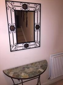 Pier table and mirror