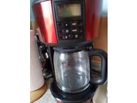 Red Russell Hobbs Filter Coffee Maker