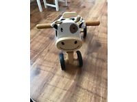Wooden Cow Toddler Ride On