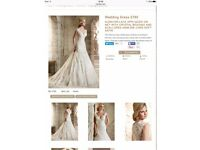 Stunning Mori Lee wedding dress for sale - size 14, professionally dry cleaned, excellent condition