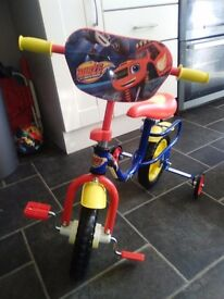 Blaze bike with stabilisers