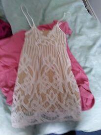 Stunning white lace sexy summer dress