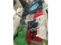 Boys clothing bundle age 4-5 yrs jeans shorts, jumper. hoodie, top, T-shirt,body warmer, vests,