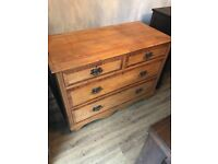 Gorgeous 4 Drawer Antique Chest Of Drawers. Can Deliver Locally For Additional Fee