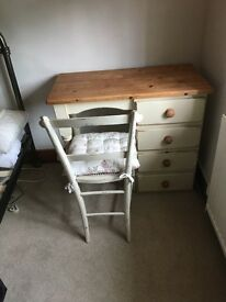 Washed pine dressing table
