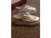 Supegra Silver Trainers