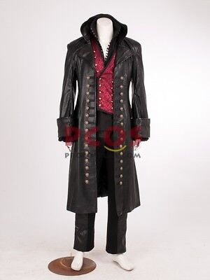 Hook Once Upon A Time Costume (Once Upon a Time Killian Jones Captain Hook Cosplay Costume)