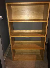 Habitat oak coloured bookcase