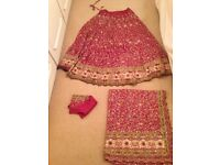 Pure Georgette Gorgeous Bridal Lengha