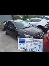 2012 Vauxhall Astra parts breaking bcg black