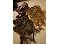 Real hair, hair extensions