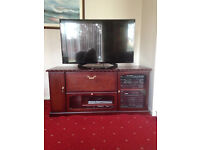 Mahogany TV Unit - Can House a Music Centre, xBox, Playstation or Dvd etc. Collection Only