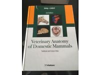 Veterinary anatomy of Domestic Mammals. Textbook and colour atlas 3rd edition hardback