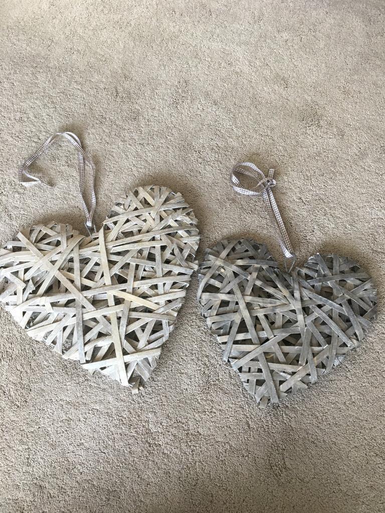Pair Of Heart Wall Decorations In Whickham Tyne And Wear Gumtree