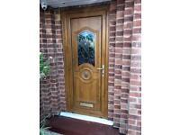 Light Oak UPVC front door