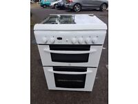 INDESIT KD6G25SWIR 60cm FULL GAS DOUBLE OVEN COOKER(second hand) 07951551712