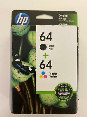 Fast shipping 2 pack of HP 64 Black & Tri-color  For HP ENVY Photo Tri Colour Photo